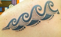 Tribal Wave Tattoo, so in love with it!!! First Tattoo!
