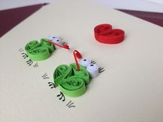 Valentines Card Red Heart and green frogs by ElPetitTaller on Etsy