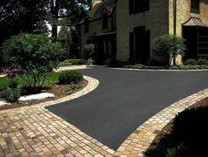 Asphalt paver driveways | Asphalt Driveway Idea | Paver Apron & Border | Paver Contractor