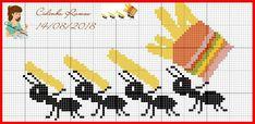 Cross Stitch Sea, Cross Stitch Animals, Loom Patterns, Cross Stitch Patterns, Knitting Patterns, Embroidery Art, Embroidery Designs, Pixel Art, Stitch Character