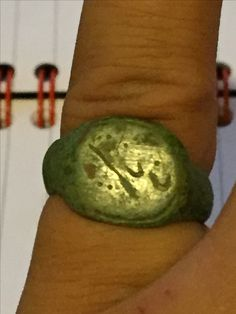 Bronze signet ring - 1400-1600 AD found by me