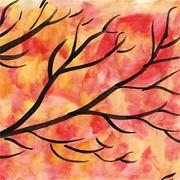Goldener Herbst mit bunt gefärbtem Laub