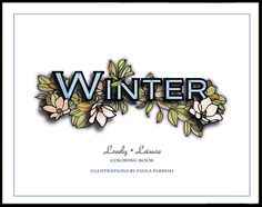 30 Designs | Adult Coloring Book | Winter