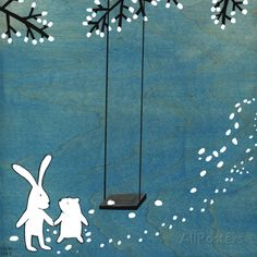 Follow Your Heart- Let's Swing Art Print at AllPosters.com