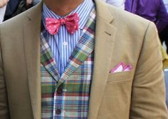 vest + pattern mixing