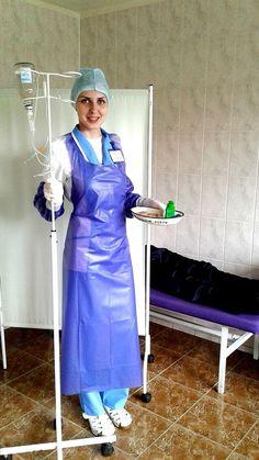 Latex Wear, Latex Suit, Plastic Aprons, Plastic Sheets, Pvc Apron, Beautiful Nurse, Heavy Rubber, Nursing Clothes, Rain Wear