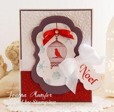 IBSIC #38, Inspired by Stamping, Joanna Munster, Sweet Aviary stamp set, Christmas Greetings stamp set, Winter Wonderland stamp set, Elegant Christmas Sentiments stmap set, Noel card, Christmas card