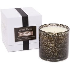 LAFCO New York Boudoir Myrrh Cassis Candle (2,690 INR) ❤ liked on Polyvore featuring home, home decor, candles & candleholders, lafco candles, glass home decor, myrrh candle and glass candle