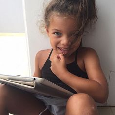 This kinda makes me want to have mixed babies lol beautiful children