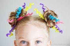 Crazy Hair Day with Lalaloopsy Girls at artsyfartsymama.com #CrazyHairDay #crazyhairideas Crazy Day, Crazy Hair Days, Crazy Hair Day Girls, Crazy Hair For Kids, Days For Girls, Crazy Hair Day At School, Wacky Hair Days, Wacky Wednesday, Toddler Hair
