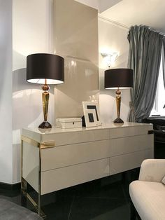 Fendi Casa Night Table, Luxury Living, Luxury Furniture, Fendi, Woodworking, Flooring, Cabinet, Wood Work, Table Lamps