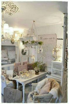 Cozy charm. So many great ideas in this room.