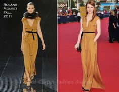 Emma Stone In Roland Mouret – 2011 Deauville Film Festival Opening Ceremony .... perfect fall color for a redhead