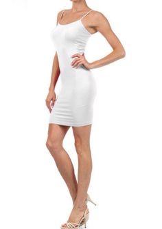 Seamless Cami Slip: White