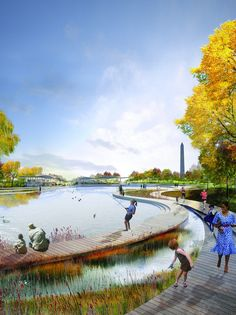 National Mall Design Competition - Constitution Gardens - OLIN & Weiss/Manfredi