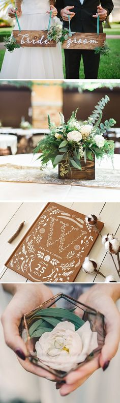 Everything for a modern rustic wedding.