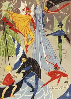 Visit to the Moon  By Joyce Mercer. 1930s