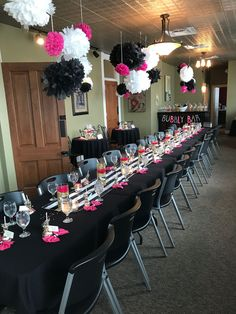 Bridal Shower Bridal Shower Decorations Pink Gold Black And White Bridal Shower Bridal Shower Decora Birthday Decorations, Baby Shower Decorations, Backyard Bridal Showers, White Bridal Shower, White Shower, 40th Birthday Parties, Birthday Recipes, Themed Parties, Mom Birthday