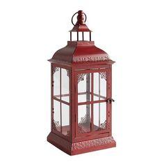Small Reina Red Metal Lantern White Lanterns, Red Lantern, Lanterns Decor, White Candles, Traditional Wedding Favours, Ikea Christmas, Aluminum Cans, Personalized Cups, Wedding Keepsakes