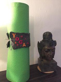 Yoga Matte Band Filzband Handarbeit Personalisiert Name Ribbon Felt Yoga, Band, Ribbon, Felt, Etsy, Names, Felting, Handmade, Handarbeit