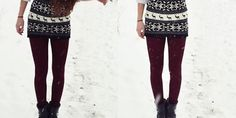 Fleece Lined tights are the key to wearing your favorites dresses all winter long. Snow be damned :-)