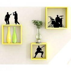 Onlineshoppee Home Decor Premium Solid Wood Shelf Rack Wall Bracket handicraft…