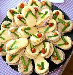 Flip flop sandwiches for flip flop themed party