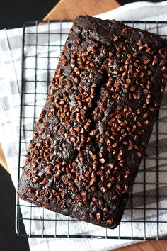 Double Chocolate Banana Bread, It is not easy being a chocolate lover. I love her so much but she is a total bit. towards my waistline. Chocolate Banana Bread, Chocolate Desserts, Chocolate Lovers, Chocolate Chips, Banana Bread Recipes, Cake Recipes, Dessert Recipes, Just Desserts, Delicious Desserts
