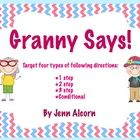 Now our favorite Old Lady is telling your students what to do!  Use this download to target following directions and improve listening comprehensio...