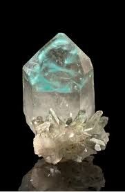 Image result for ajoite included quartz