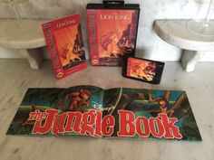 SEGA GENESIS THE LION KING 1994 CIB COMPLETE with THE JUNGLE BOOK POSTER WORKING
