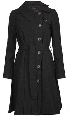 Dark grey long wool coat for winter...