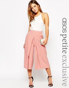 ASOS+PETITE+Wide+Leg+Culotte+with+Pleat+Front+Detail