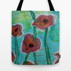 Poppies Tote Bag by Tiffany Alcide - $22.00