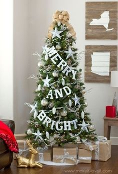 10. #Simple but Stunning - 27 Stunning Christmas #Trees You Can Create at Home ... → DIY #Stunning