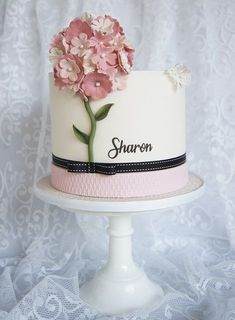 nice Sharon Birthday Cake - SugarEd Productions Online Classes Read More by edenpatras. Cake Decorating Company, Creative Cake Decorating, Cake Decorating Tutorials, Creative Cakes, Fondant Cakes, Cupcake Cakes, Cupcakes, Pretty Cakes, Beautiful Cakes