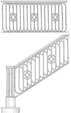 Stair Railing Designs ISR045