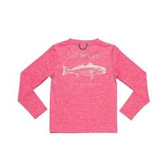 Prodoh long sleeve red fish tee - pink