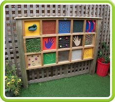 Billedresultat for sensory garden mirror Preschool Playground, Preschool Garden, Sensory Garden, Backyard Playground, Children Playground, Playground Ideas, Outdoor Learning Spaces, Kids Outdoor Play, Outdoor Play Areas