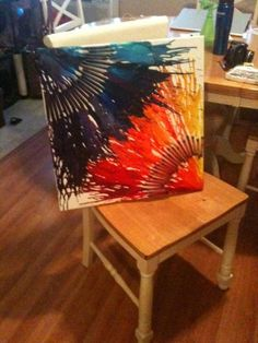 My first ever Pinterest project AND crayon art! Turned out great...use a diffuser for a slightly different look