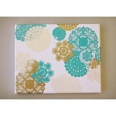 Painted Doilies Canvas