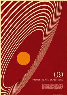 International Year of Astronomy 2009 Poster Design by Simon Page