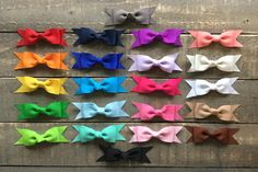 A personal favorite from my Etsy shop https://www.etsy.com/listing/500322810/grosgrain-bow-set-nylon-headbands-or