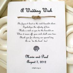 Seaside Wedding  A Wedding Wish with a Seashell  by madebydina, $1.85