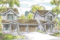 Duplex Plan - Rothbury 60-016 - Front Elevation