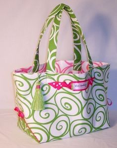 Tote Pattern - PDF Download of The Out 'N About Tote Sewing by EllenMedlock