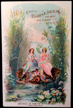 Bohsemeem Spices Victorian #TradeCard 1880s Weikel & Smith Philadelphia #4 #BohsemeemSpices