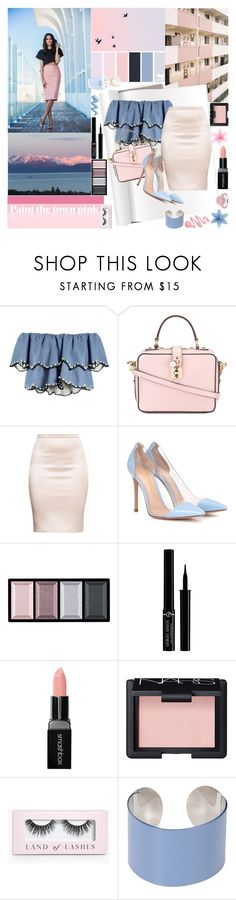 """""""And You Are Unforgettable, I Need To Get You Alone"""" by luvmrb61899 ❤ liked on Polyvore featuring HUISHAN ZHANG, Dolce&Gabbana, Gianvito Rossi, Clé de Peau Beauté, Giorgio Armani, Smashbox, NARS Cosmetics, Boohoo, Maison Margiela and Marc Jacobs"""