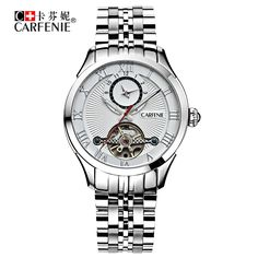 116.59$  Buy here - http://aliqrb.worldwells.pw/go.php?t=32751539758 - CRAFENIE Swiss Original Men's Watches Automatic Mechanical Waterproof Wristwatches Tourbillon Movement watch 9013