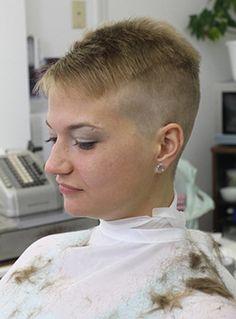 blonde  tone shaved nape bowlcut  turtleneck  plaid skirt bowlcuts mushrooms